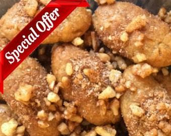 Melomakarona - Homemade Greek Honey Cookies - Christmas Cookies - Holiday Gift - Vegan Cookies - Four Dozens (48 items)