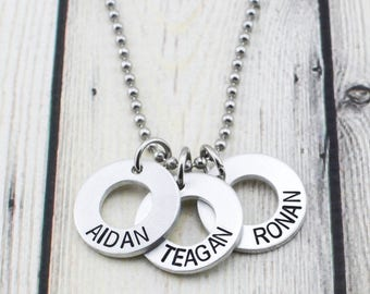 Mens Necklace - Gift for Men - Name Necklace - Personalized Necklace for Men - Husband Gift - Custom Necklace for Men - Mens Jewelry