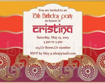 Mehndi Ceremony Cards : Sangeet invites etsy