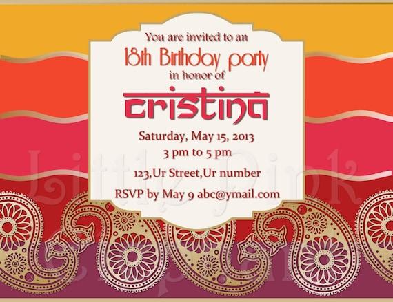 Lohri invitations party invitation dholki invitation