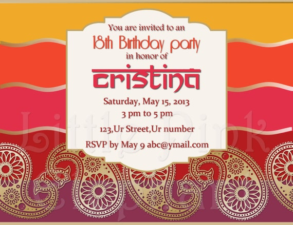Mehndi Party Invites : Lohri invitations party invitation dholki