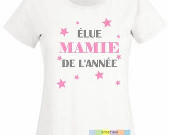 "Female ""Grandma of the year"" custom t-shirt"