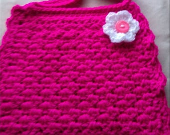 Crochet childrens bag, over shoulder bag , bag with matching coin purse, cute bag, flower bag
