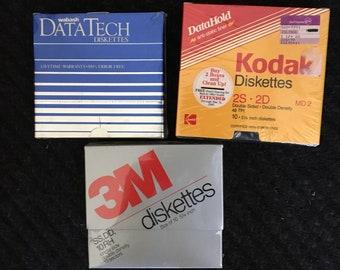 Vintage Computer Flppy Diskette/storage/geek gift