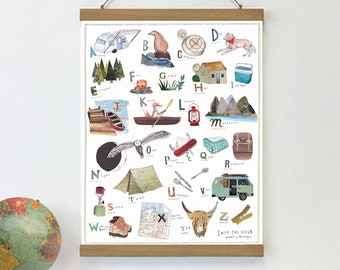 NEW: Into the Wild - ALPHABET POSTER