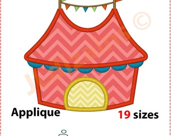 Circus Tent Applique Design. Circus tent embroidery design. Big top applique design. Big top embroidery. Circus. Machine embroidery design