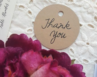Printed Favor Tags | Thank You Tags  | Thank You | Printed Favor Tags | Thank You CASUAL COLLECTION - 100 Tags - Style T07