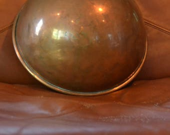 ANTIQUE COPPER  Mixing BOWL...Lg.,Heavy..Stamped England..50's (Maybe  Earlier) Great Patina