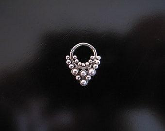 Silver Septum, Helix Ring, Septum Ring, Nose Ring, Bollywood Septum, Tribal Septum,  Tribal Nose Ring, Ethnic tribal silver septum