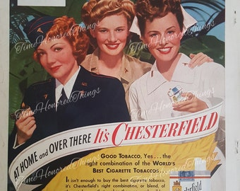 1943 Chesterfield Wartime Ad
