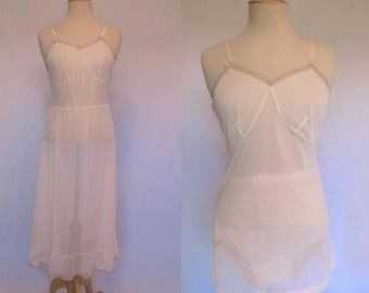 1950s Vintage - Vintage Lingerie - Vintage Slip, Camisole and Panties - Three Piece Lingerie Set - Bust 96 cm