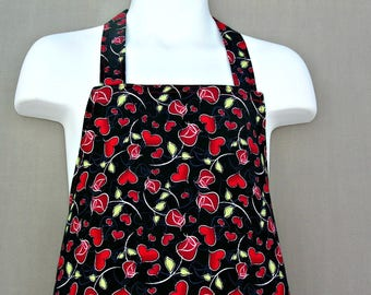 Wonderful Childs Pretty Hearts and Roses Apron