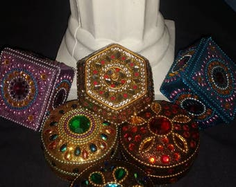 Set of 6 Handmade beautiful high quality jewelry boxes.