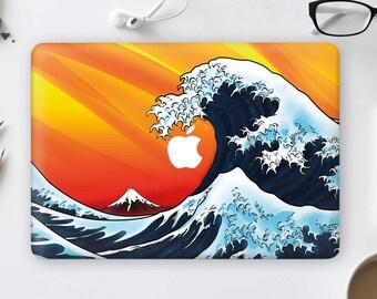 Kanagawa Wave Macbook Air 13 Case Macbook Hard Case Wave Macbook Pro 13 Hard Case Macbook Pro 15 Case Macbook 12 Case Macbook 13 CHA3005