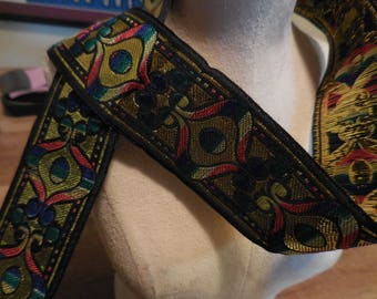 "SCA Ren Medieval Woven Jacquard Ribbon Sewing Trim 1.5"" x 5 yards"