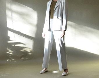 90s light green/seafoam pant suit // size 2/4