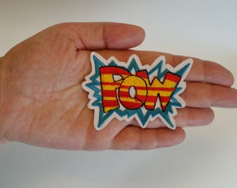 CLEARANCE! Pow Patch 1pc Sew On Iron On Comic Book POW! DIY Applique Embellishment Embroidery Logo Fabric Notions