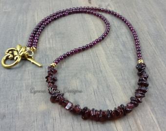 Genuine Garnet Necklace