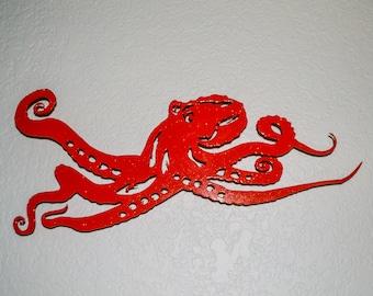Oktopus Metall Wand, Kraken, Metall Kunst, Zeichen, Leben im Meer