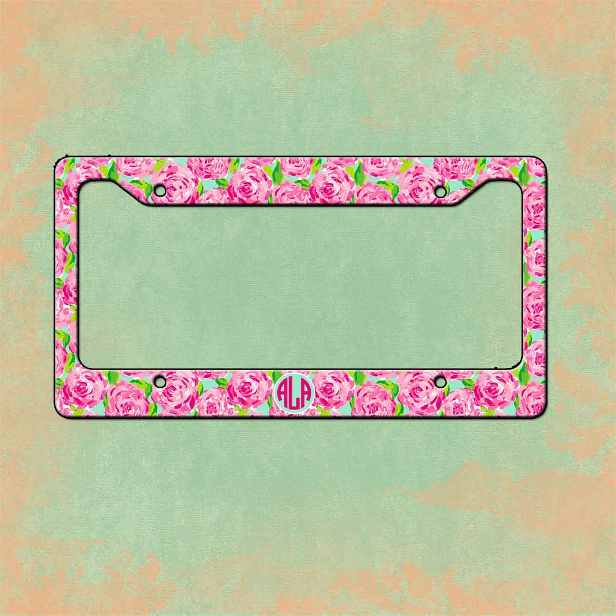zoom - Monogram License Plate Frame