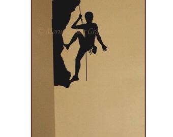 Vinyl ROCK CLIMBER Wall Art Decal SP-120