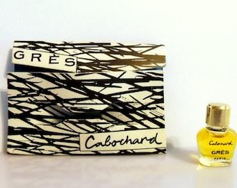 Vintage 1960s Cabochard by Gres Miniature Parfum Micro Mini Perfume on Card