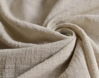 Soft Linen Cotton Gauze Fabric Greyish Cream MJ1767