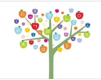 Hangul Korean Tree Poster