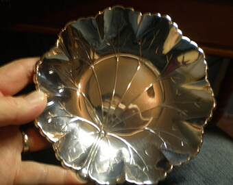 Sterling Silver Lily Pad Bowl by Webster