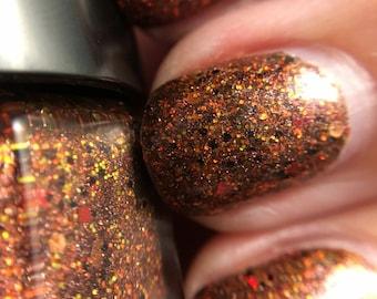 Molten Dragonling - Handmade Nail Lacquer - 0.50 Fl oz Bottle