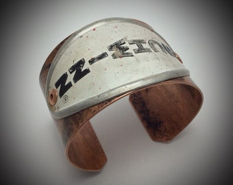 Vintage Schwinn Bicycle Head Badge Copper Cuff BRACELET