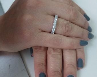 Diamond wedding band ,gold wedding ring,eternity band,