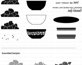 Papertrey Ink Bowl of Sunshine clear stamp set