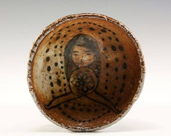 Wood Fired Pinch Bowl by Jenny Mendes - Flower