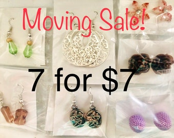 All These Earrings - 7 for 7 sale -  big lot - bundle