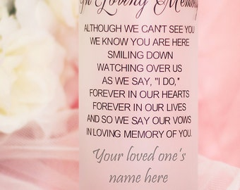 Personalized Memorial Wedding Candle Holder/Vase