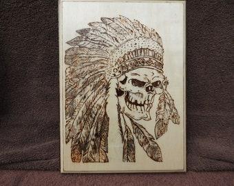 Woodburn Indian Spirit Plaque