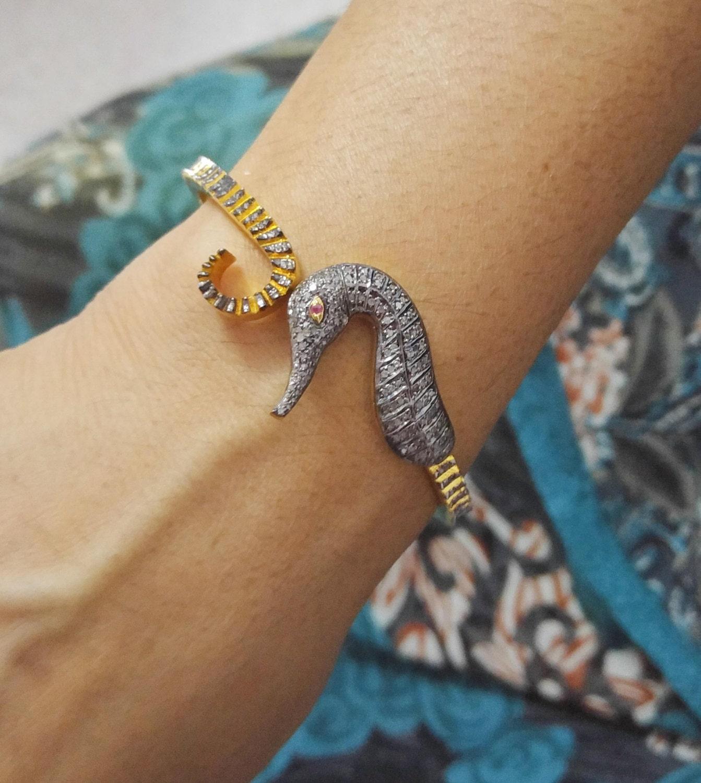 Pave Seahorse Diamond Bracelet Seahorse Diamond Bracelet