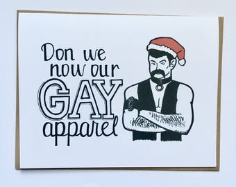 Don We Now Our GAY Apparel - Hand Lettered Holiday Card