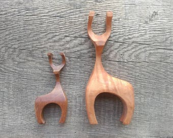 Abstract Scandinavian Wooden Deer - Customize!