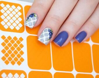 Afgeronde pleinen nagel stencils / pleinen nagel vinyls / meetkundige nail stencils / meetkunde nagel vinyls / Nail art tape / Nail art gidsen