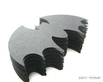 25 Black Bats , Halloween punches, Large Bat die cuts, Halloween table confetti , Halloween party decorations,  fall trends