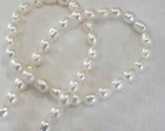 lot 48 natural pearls of 7-8 mm White Pearl Earrings for baroque