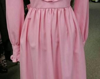 Vintage 1960's Ruffled Maxi Dress