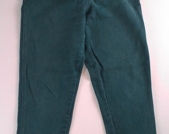White Stag Riding Pants Womens SZ 6 RUNS SMALL 26.5 x 29 Actual Stirrups Ski Green Size Fits 0/2 Zippered Pockets High Rise