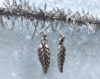 Little Silvery Leaf Earrings