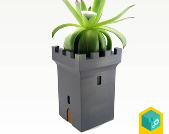 Planter   Hand painted   Succulent planter   3D printed   2.3x2.3x4.3 inch