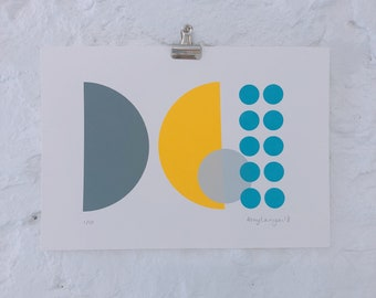 LIMITED EDITION, abstract screenprint