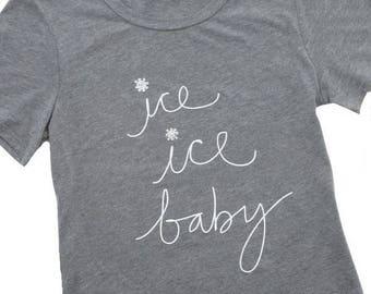 Ice Ice Baby vanilla ice skating ladies tee
