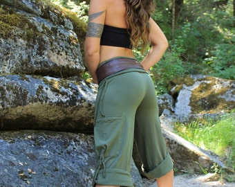 Yoga Cargo Pants-yoga clothing-dance clothing-comfy pants-athletic clothes-hippie clothes-gray pants-sexy pants-tribal hippie-festival pants
